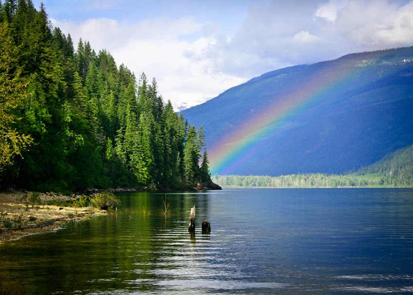 Rainbow over Shuswap River