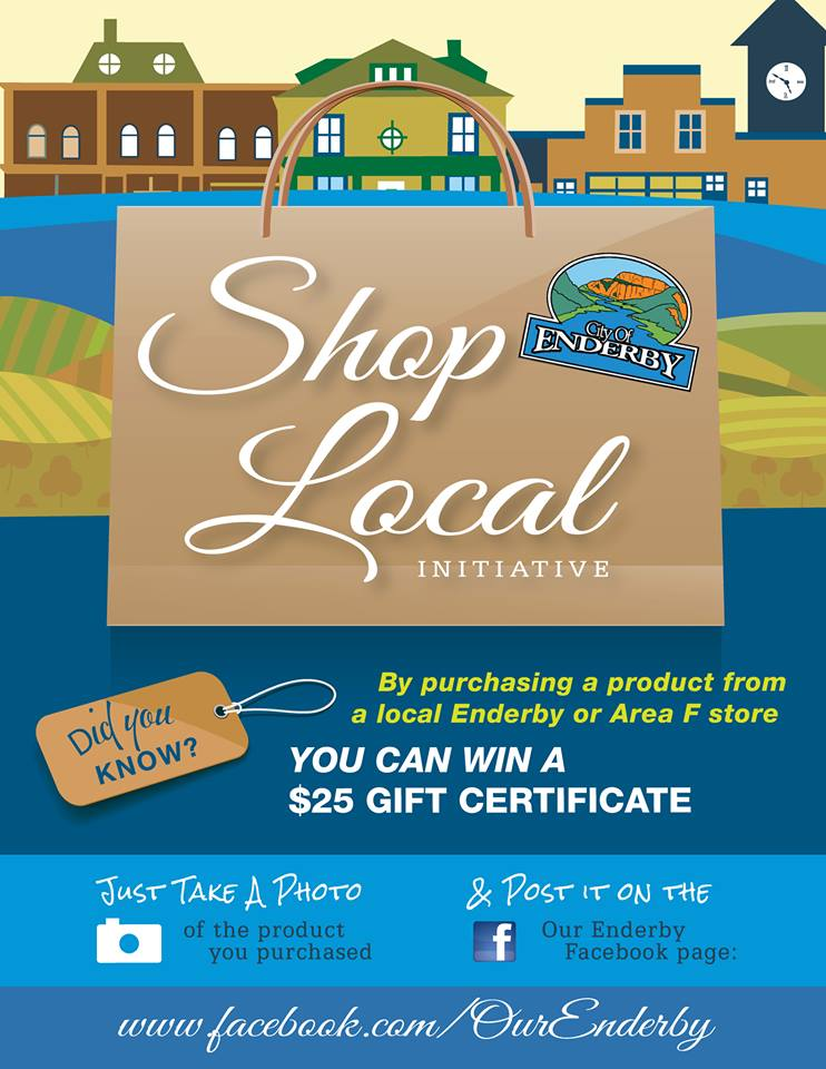 Shop Local in Enderby Contest Poster