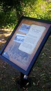 Heritage Interpretive Sign about Brick Making in Enderby. Watch for it the next time that you are strolling along the Riverwalk!