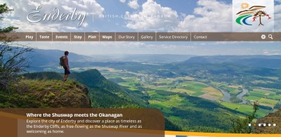 Screenshot for ExploringEnderby.com, Enderby's official tourism website