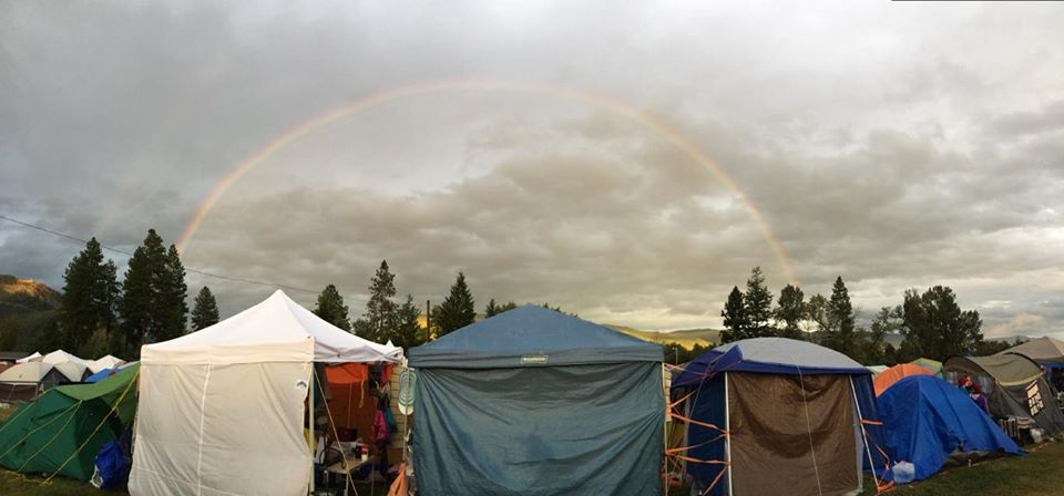 Rainbow Over Girl Guides SOAR campsite