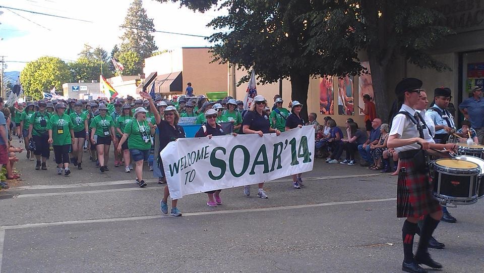 Girl Guides SOAR Parade in Enderby BC on July 19, 2014