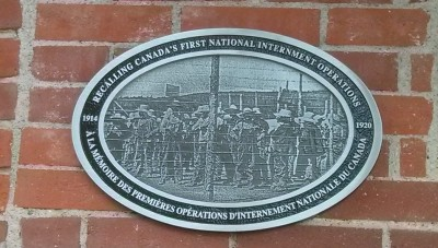 War Measures Plaque posted at the Drill Hall in Enderby BC by Mayor Cyr on August 22, 2014