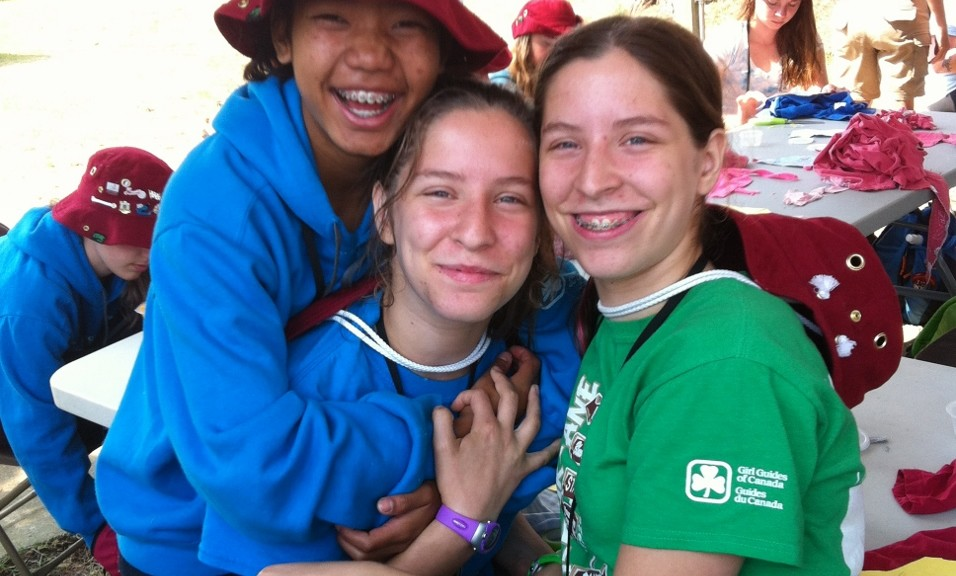 Girl Guides Community Service and Hugs