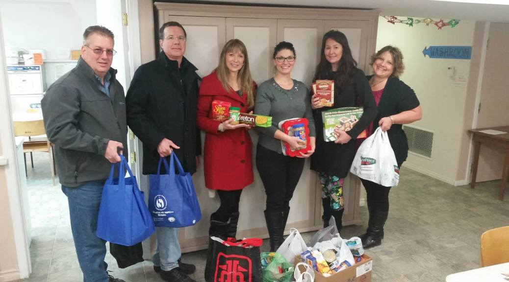 Enderby Council and Food Bank Donation 2014
