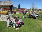 Volunteers Enjoy Some BBQ After Enderby Community Clean Up Day