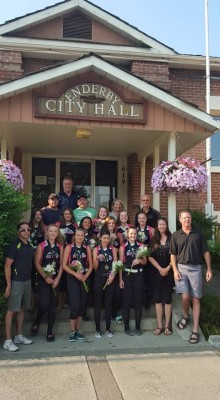 Enderby Storm at City Hall to celebrate 2015 victory at Provincials