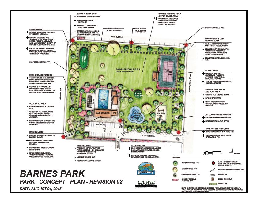 Barnes Park Concept Plan Completed City Of Enderby