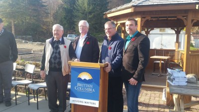 Enderby Seniors Housing Society Members with MLA Kyllo and Mayor McCune