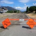 Salmon Arm Drive construction - pavement milling